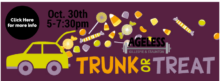 Trunk or Treat Party on October 30th